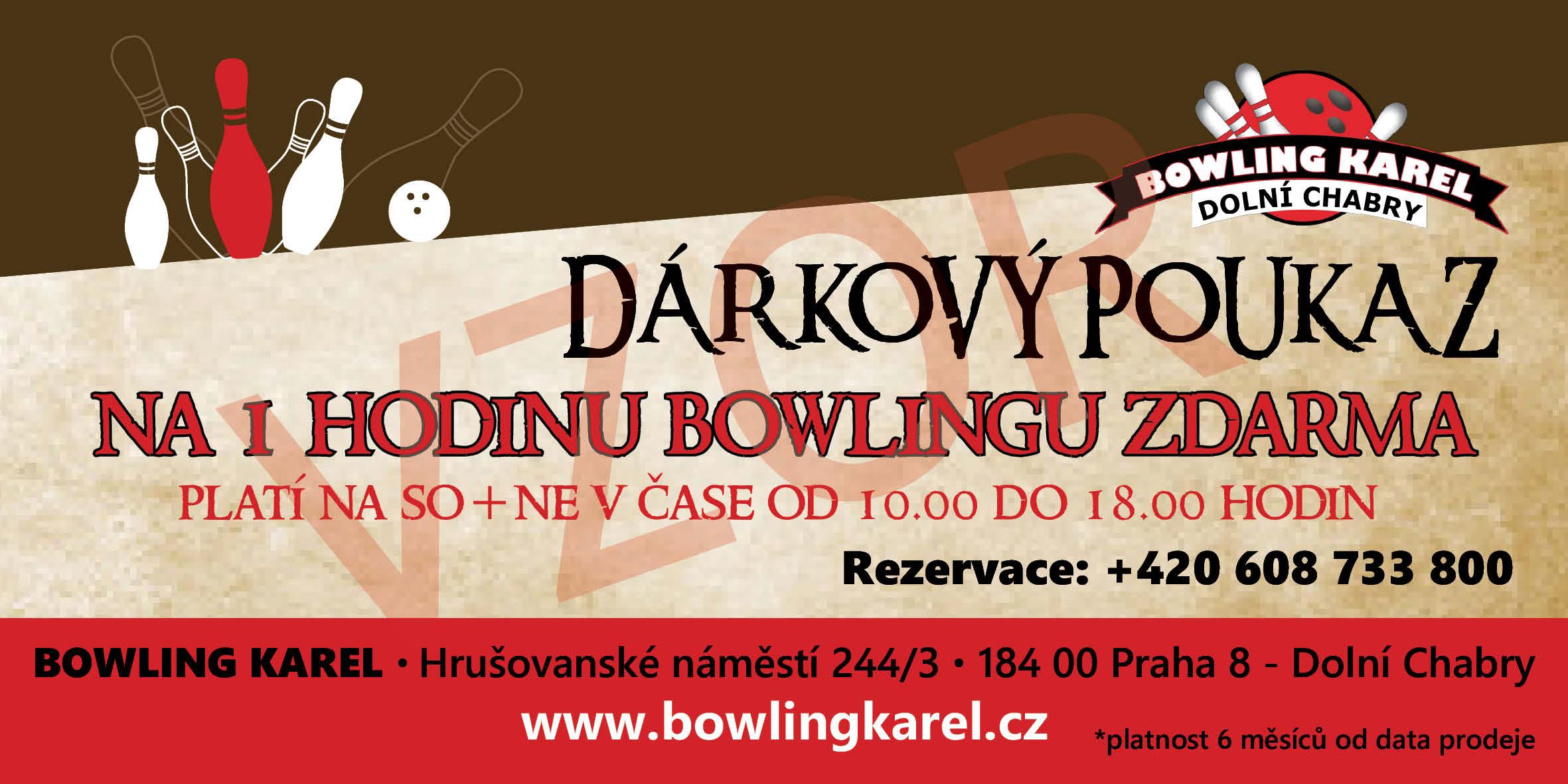 Dárkový poukaz na bowling KAREL