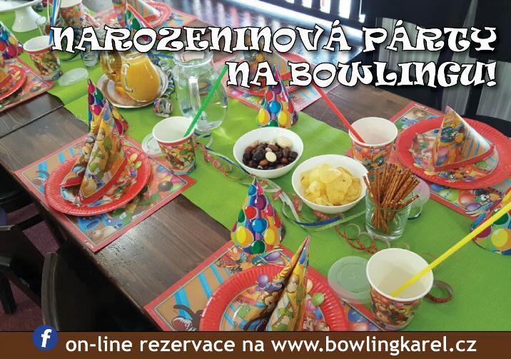 párty na bowlingu - stůl