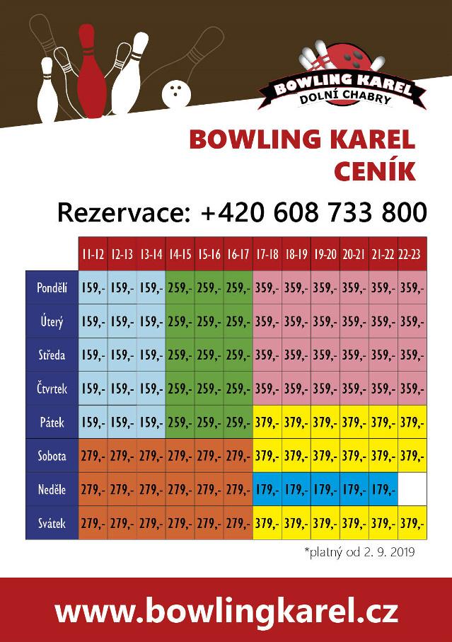 Ceník bowlingu
